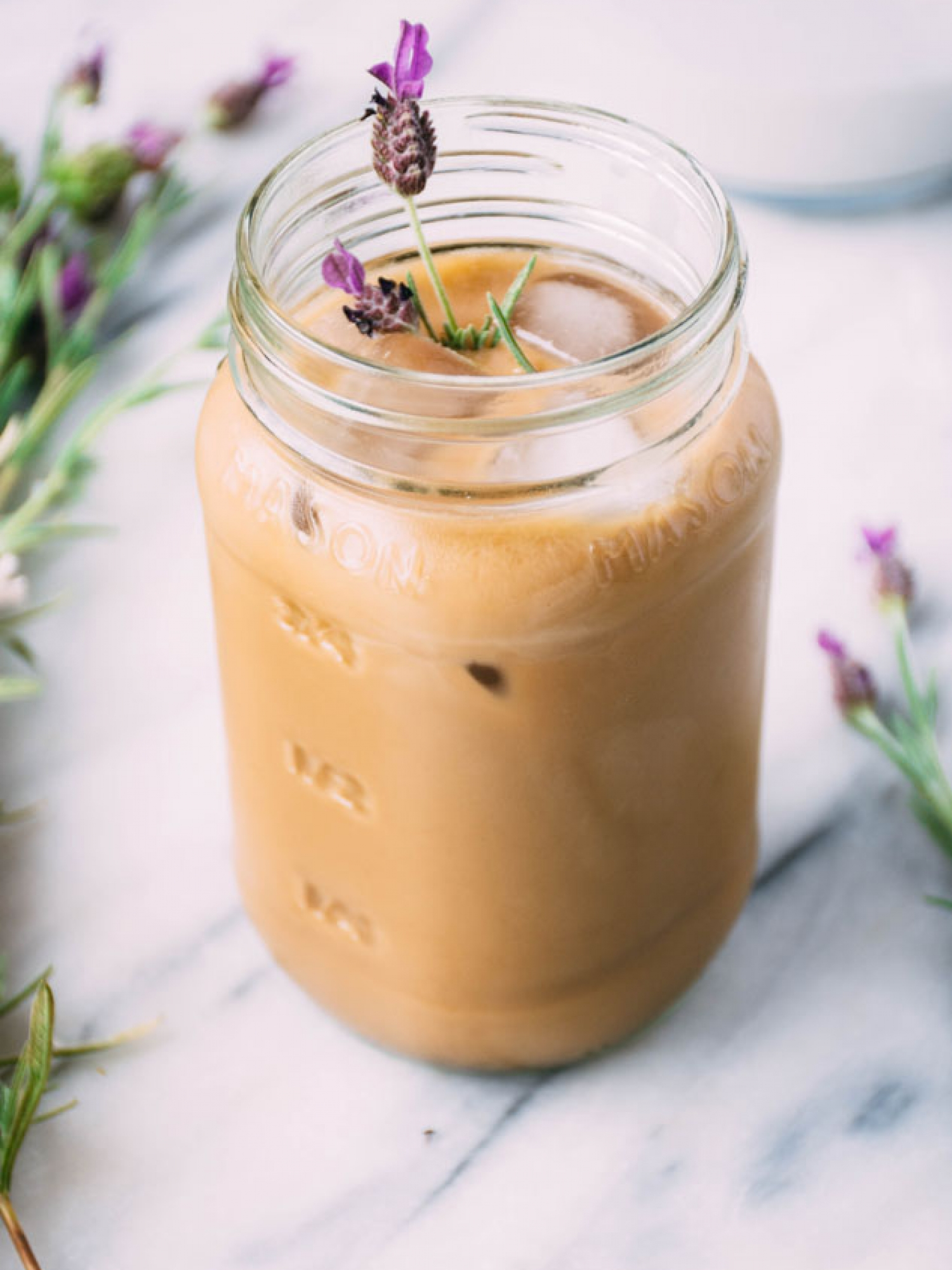 lavender coconut iced coffee